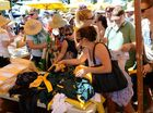 XXXX Island garage sale. Photo Allan Reinikka / The Morning Bulletin