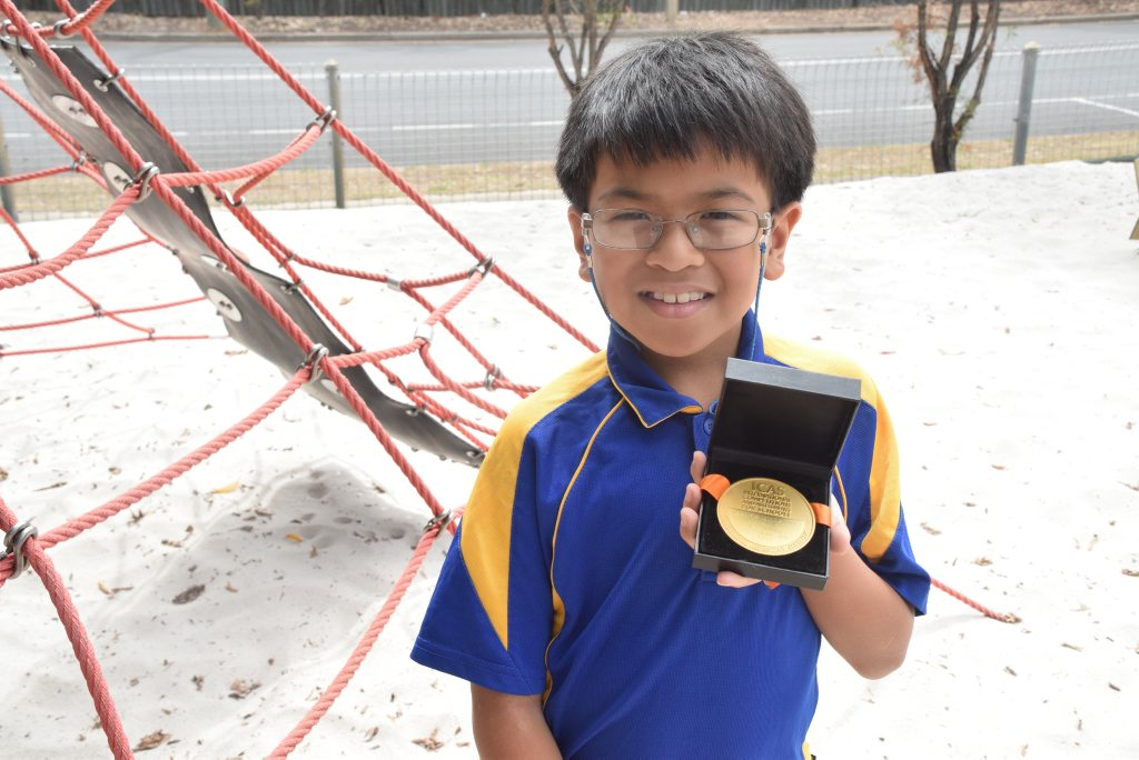 Lance Millario is Queensland's top year 3 speller, and can currently spell words at a high school level. Photo Sarah Barnham / The Observer