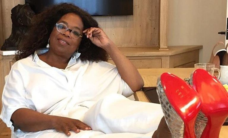 Karla McPhail now owns a pair of Oprah Winfrey shoes.