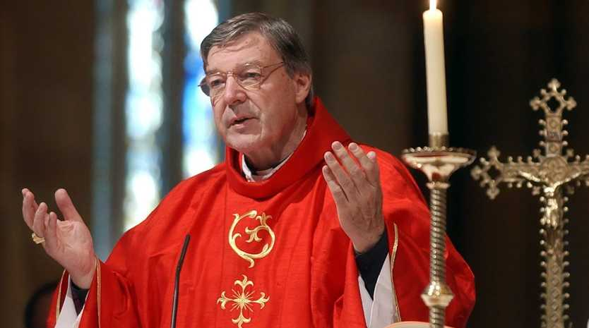 In this Sept. 14, 2004 file photo, the then Archbishop of Sydney, Cardinal George Pell celebrates a special mass in Sydney's St. Mary's Cathedral. Pell, now the Vatican's third-most-powerful official, has been dogged for years by allegations that he mishandled the Catholic Church sex abuse crisis in his native Australia, and now the scrutiny is more intense than ever. (AP Photo/Rick Rycroft, File)