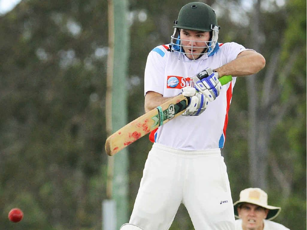 REARGUARD ACTION: Swifts batsman Dylan Hickson digs in against Laidley during his vital knock of 57 that helped save his team from outright defeat.