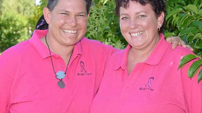 TOP MATES: Nicky Watkins (left) says she can't thank her friend Alison Ramke (right) enough for the support she's given her since learning of her cancer diagnosis.