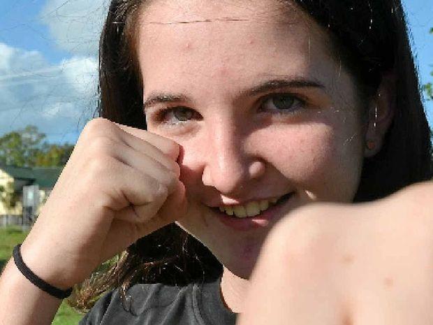 KICKING GOALS: Maddie Langan, 12, recently competed at the International Sports Karate Association's Australian titles.