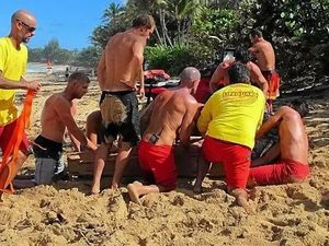 Fanning part of rescue team for wiped out American surfer