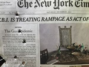 Angry man shoots at New York Times call for gun reform