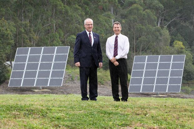 DISAPPOINTED: Mayor Mark Jamieson pictured with Councillor Steve Robinson, says the shovel-ready project was deserving of federal funding.