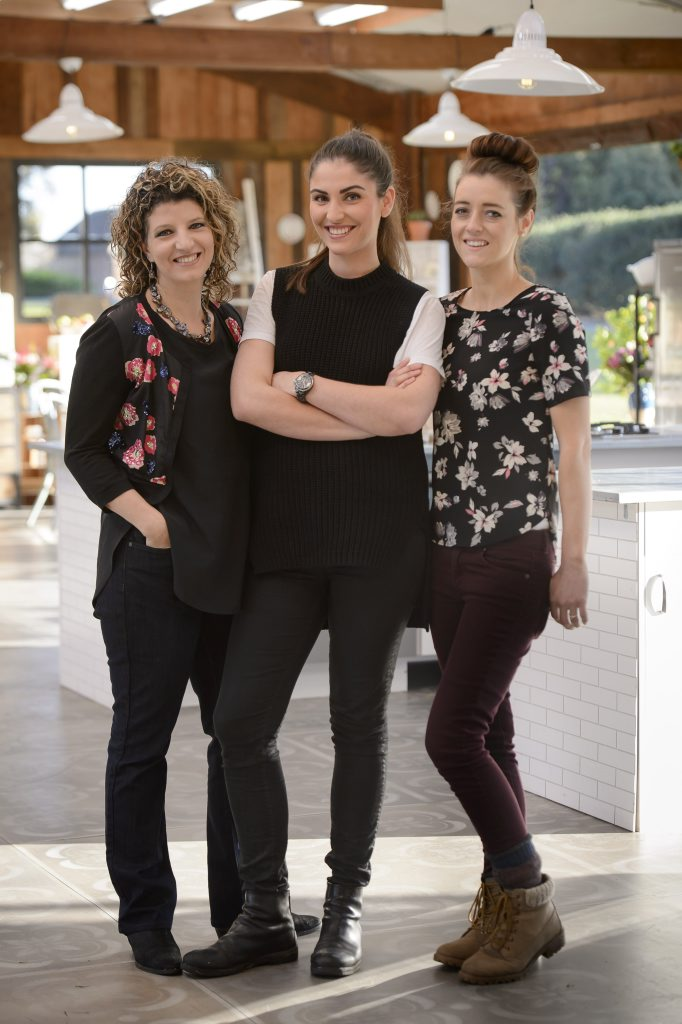 The Great Australian Bake Off finalists Suzy, Sian and Jasmin.