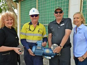 Hi tech pump gifted to CQUniversity Gladstone City Campus