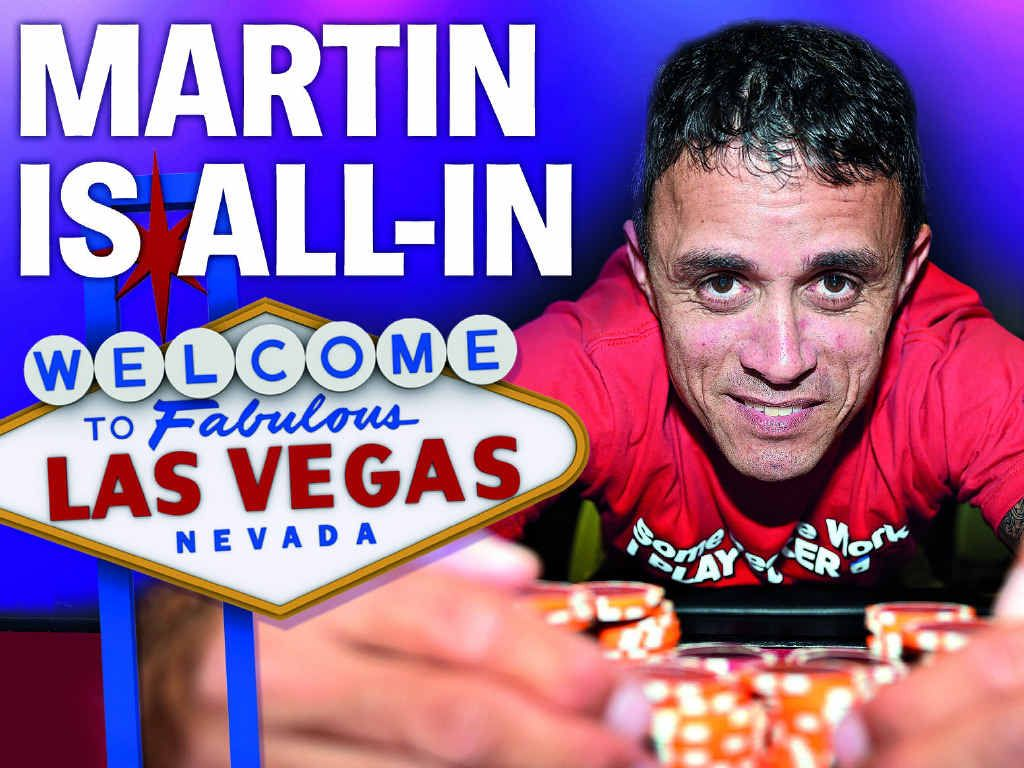 BRIGHT LIGHTS: Hervey Bay poker player Brad Martin will travel to Las Vegas for the World Series of Poker Millionaire Maker in June next year.