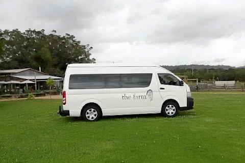 The Farm Bus is a new transport service that runs hourly in a loop around the Byron Shire. Photo: Contributed