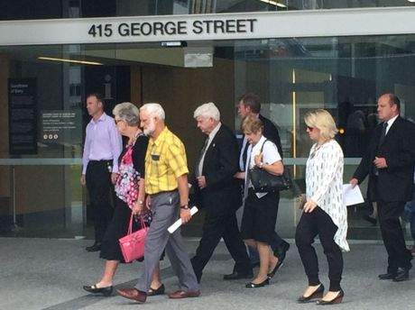The friends and family of Allison Baden-Clay leave the courthouse after hearing Gerard Baden-Clay's murder conviction would be dropped, and replaced with a manslaughter conviction