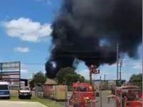 Fire burns in Glenvale