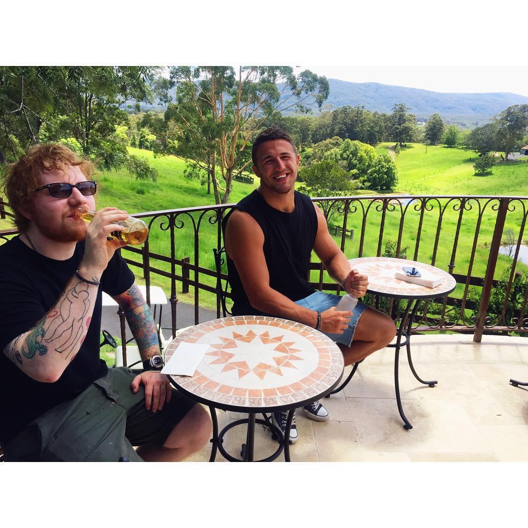 Sam Burgess' fiance Phoebe Hooke shared the photo on Instagram.