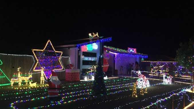 Christmas lights around Mackay.