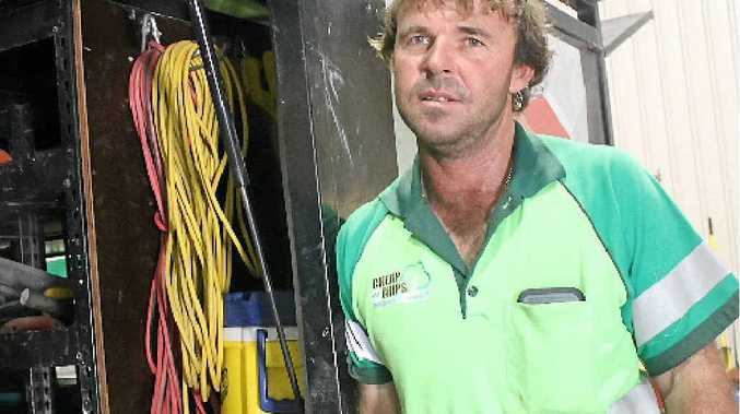 DEVASTATING LOSS: Aaron Hardy said his white Isuzu truck was low on fuel, so hopefully police will find the truck on service station CCTV footage.