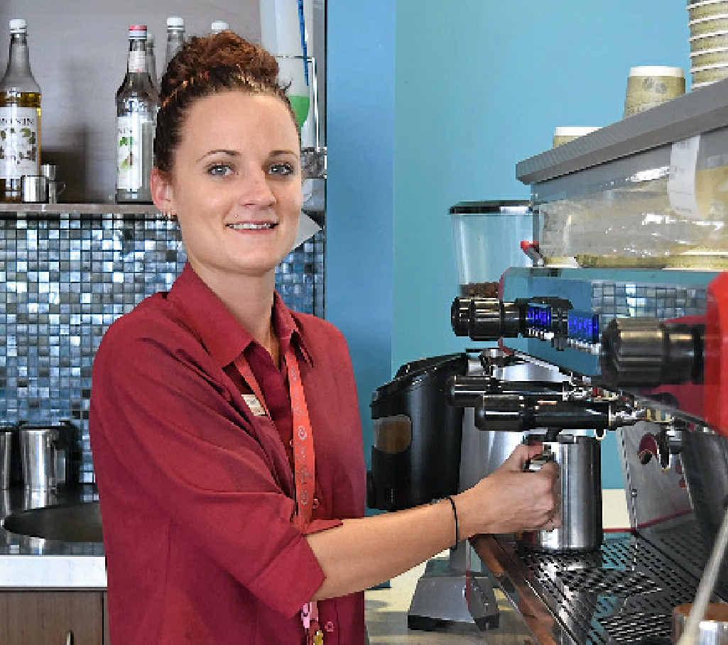 HARD WORKER: Leanne Fordham hard at work.