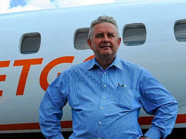 UP AND AWAY: Jetgo's managing director Paul  Bredereck.