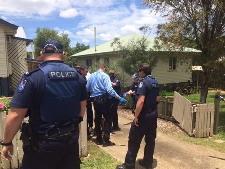A man is arrested in Harlaxton, Toowoomba.