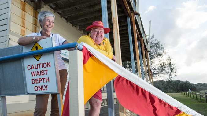 Woolgoolga SLSC members Sue Neill and Trevor Acason have been helping country students learn about safety on the beach and in the water.