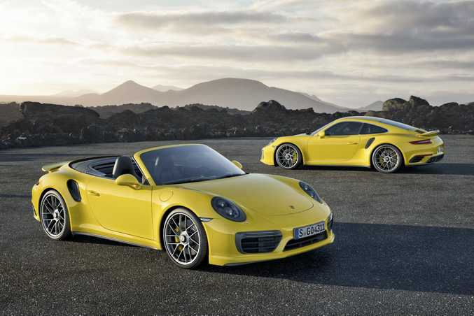 ON BOOST: 2016 Porsche 911 Turbo Coupe and Convertible arrive in Australia next May, with the 427kW Turbo S Coupe hitting 100kmh in 2.9-seconds.