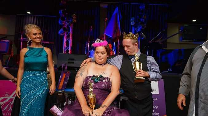 ROYALTY: Jason Harvey was named king and the queen was Tiegan Johnson at the Fraser Coast's first Ability Ball held earlier this month. Photo Contributed/ David and Todd Boniface, FamedImages.