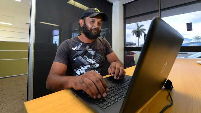 Jason Lawton has enrolled to do a Diploma in Business at the new Australian Indigenous College in Rockhampton. Photo: Chris Ison / The Morning Bulletin