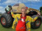 Monster Trucks are on again at Sunshine Coast Stadium, Monday 28th December. Ashlea Gierke getting ready to take one of the trucks for a spin.