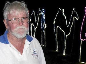 Storm destroys Christmas lights display