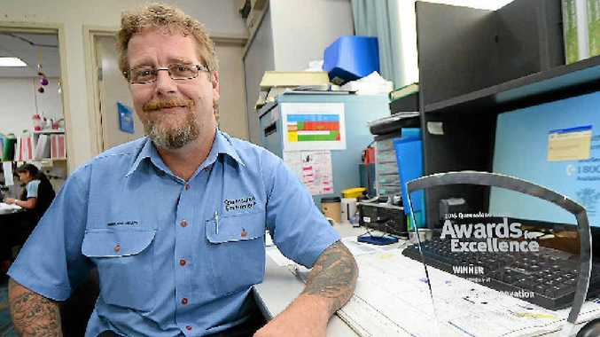 TRASH TO TREASURE: Rockhampton Hospital waste management co-ordinator Clint Mills took out Queensland Health's Award for Excellence for innovation with his successful implementation of a waste reduction program.