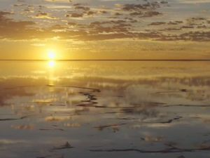 Flight over Lake Eyre