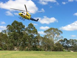 Chopper crew rescue mountain biker near Lake Manchester
