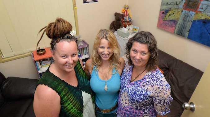JASMINE PLACE: Therapists Raelene Blyth, Charlotte Simmons and Cathie Barnes.