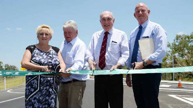 IT'S OFFICIAL: Capricornia MP Michelle Landry, Flynn MP Ken O'Dowd, Deputy Prime Minister Warren Truss and Member for Rockhampton Bill Byrne officially open the Yeppen South project.