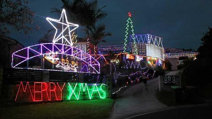 Christmas lights display at 9 Kearn Cl, Boambee East.