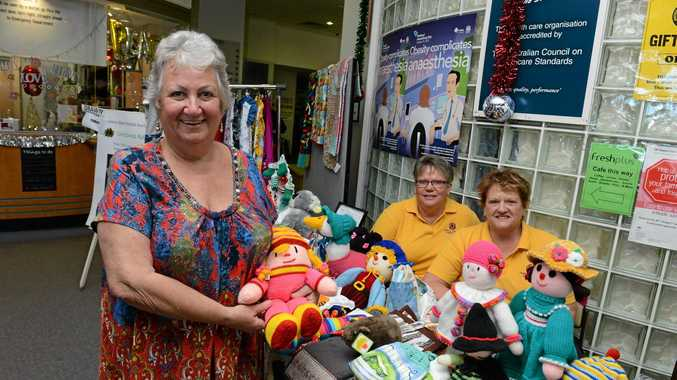 Lismore Base Hospital Auxillary President Diane Miller, Pauline Strong, and Rhonda Powell say the gift shop at the hospital has re-opened. Photo Cathy Adams/ The Northern Star