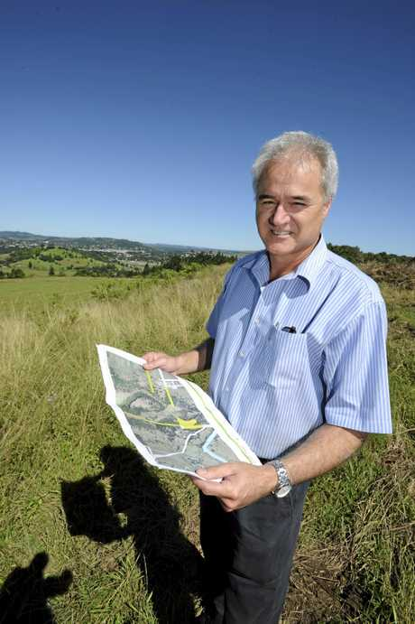 North Lismore Plateau co-owner Tony Riordan, photographed in 2011, has been hoping for approval by Lismore City Council to start development on his land. Photo Cathy Adams / The Northern Star