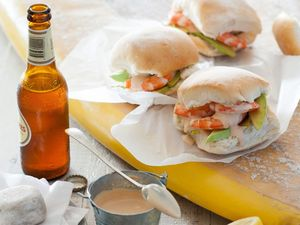 RECIPE: Prawn and avocado rolls with homemade seafood sauce