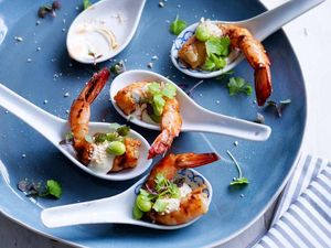 RECIPE: Grilled ginger prawns Served with yuzu mayo
