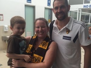 Hello Hawks! AFL team trains on the Sunshine Coast