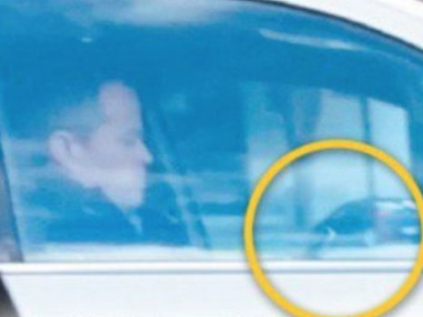Opposition leader Bill Shorten caught on his phone while driving.