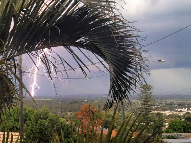 Rihana Jensen took this photo of lightning striking down over Kingaroy last month.