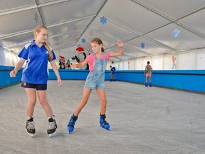 PHOTOS: Residents beat the heat at ice skating rink