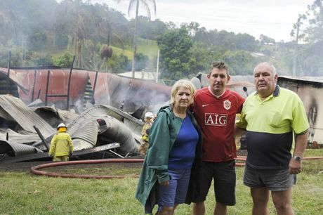 Early hours of Saturday morning Kandanga pub burnt down.
