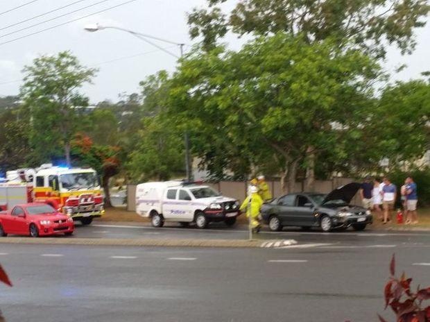 Rear end crash on corner Malpas & Belpana Streets, Tannum Sands