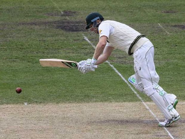 Australian batsman Adam Voges on day 2 of the first Test match between Australia and the West Indies at Bellerive Oval in Hobart, Friday, Dec. 11, 2015.