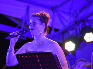 Kelly Murphy singing at Nambour Carols