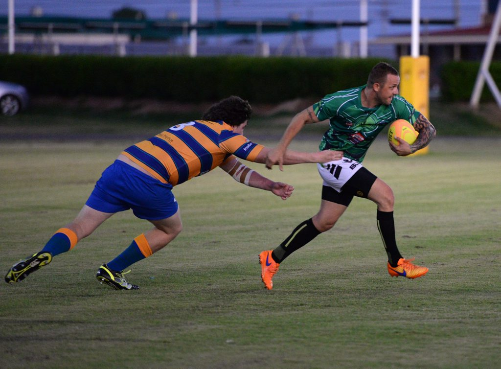 RUGBY ACTION: Pythons secured a win over the Barbarians to end the year. Photo: Mike Knott / NewsMail