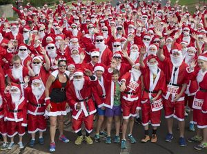 Santas pound the pavement for charity