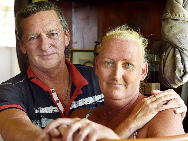 ROMANTIC: Maryborough's Jo McCallum and Chris Bate can't wait to get married.