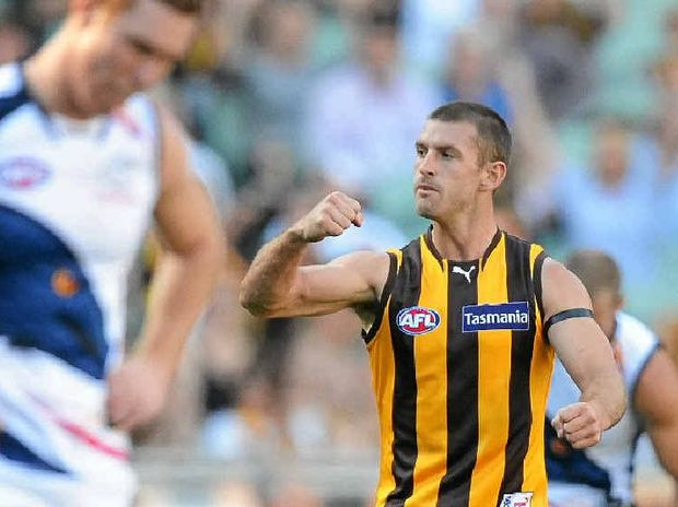 DUE FOR SOME LUCK: Queenslander Brendan Whitecross has decided to stay in Melbourne with Hawthorn despite holding talks with the Brisbane Lions and the GWS Giants.